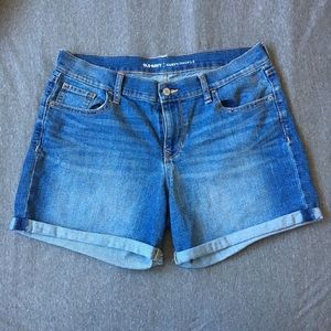 Old Navy Curvy Profile High Rise Denim Shorts